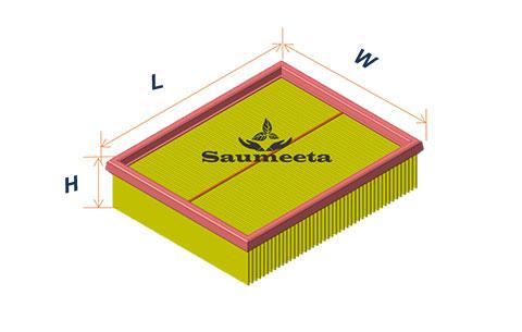 فیلتر هوا برای سوناتا4سیلندر